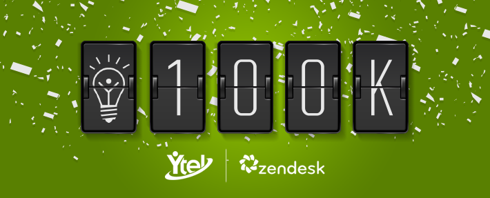 Ytel Smart Support Solves 100k Tickets with Zendesk